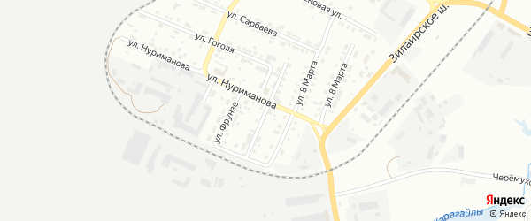 Улица Чернышевского на карте Сибая с номерами домов