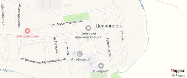 Улица Заки Валиди на карте Целинного села с номерами домов