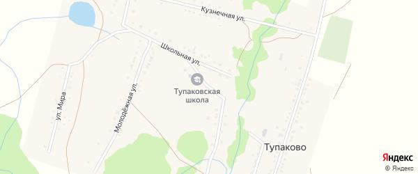 Заречная улица на карте деревни Тупаково с номерами домов