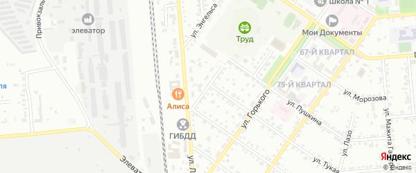 Улица Сакко и Ванцетти на карте Сибая с номерами домов