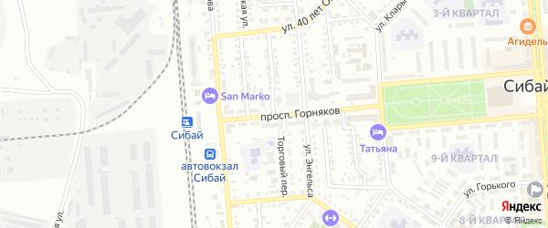 Торговый переулок на карте Сибая с номерами домов