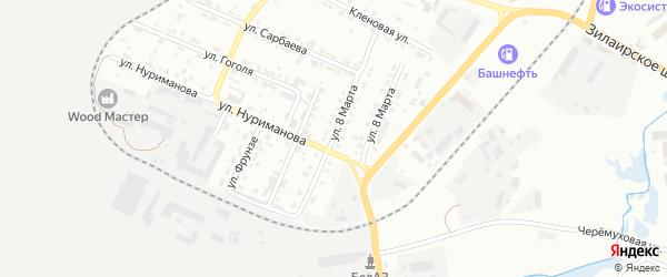 Улица 8 Марта на карте Сибая с номерами домов