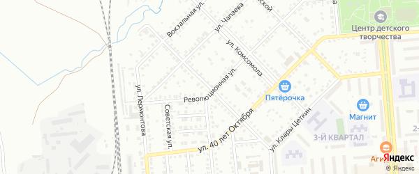 Улица Луначарского на карте Сибая с номерами домов