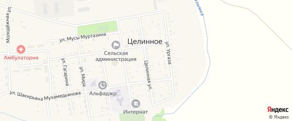 Целинная улица на карте Целинного села с номерами домов