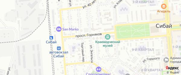 Улица Энгельса на карте Сибая с номерами домов