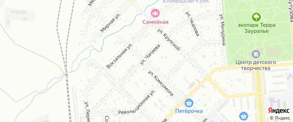 Улица Комсомола на карте Сибая с номерами домов