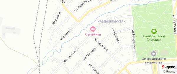 Вокзальная улица на карте Сибая с номерами домов
