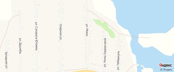 Улица Мира на карте села Давлетово с номерами домов