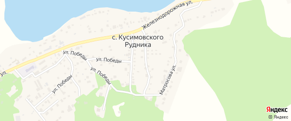 Улица Алексея Павлова на карте села Кусимовского рудника с номерами домов