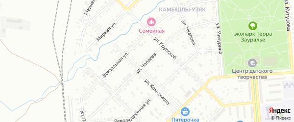 Улица Чапаева на карте Сибая с номерами домов