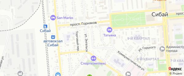 Территория гк Ирандык на карте Сибая с номерами домов