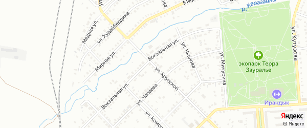 Улица Крупской на карте Сибая с номерами домов