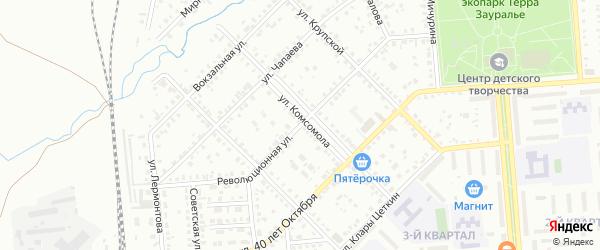 Революционная улица на карте Сибая с номерами домов