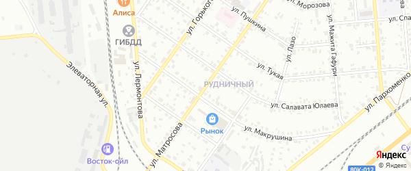 Улица Матросова на карте Сибая с номерами домов