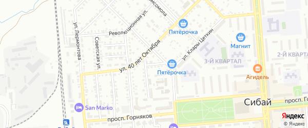 Улица Некрасова на карте Сибая с номерами домов
