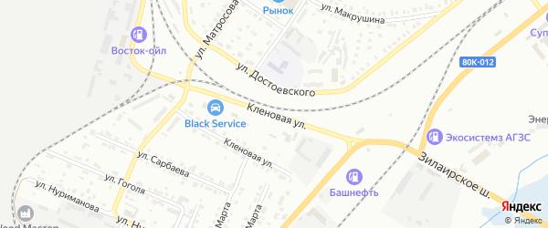 Кленовая улица на карте Сибая с номерами домов