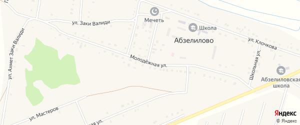 Молодежная улица на карте деревни Абзелилово с номерами домов