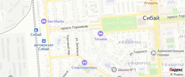 Рудничный переулок на карте Сибая с номерами домов