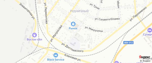 Улица Аккулова на карте Сибая с номерами домов