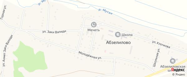 Улица Механизаторов на карте деревни Абзелилово с номерами домов