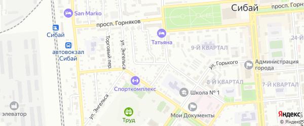 Учалинская улица на карте Сибая с номерами домов
