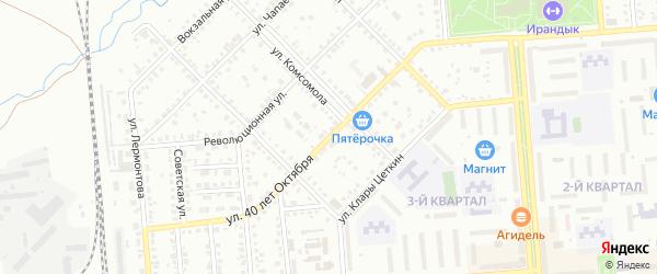 Улица 40 лет Октября на карте Сибая с номерами домов