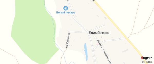 Улица Юламана на карте деревни Елимбетово с номерами домов