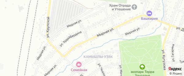 Мирная улица на карте Сибая с номерами домов