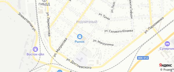 Улица Макрушина на карте Сибая с номерами домов