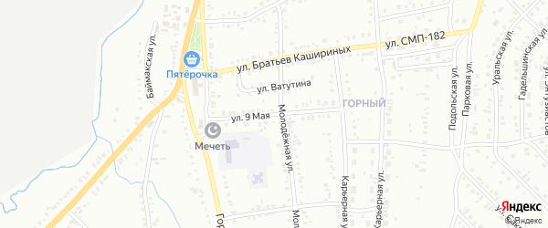 9 Мая улица на карте Сибая с номерами домов