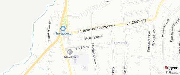 Улица Ватутина на карте Сибая с номерами домов