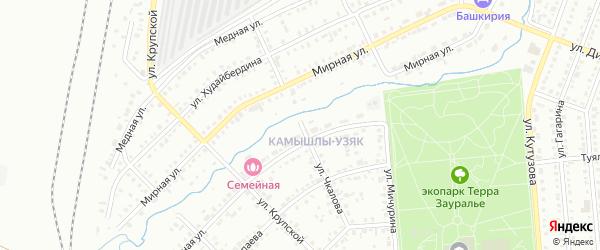 Улица Чкалова на карте Сибая с номерами домов