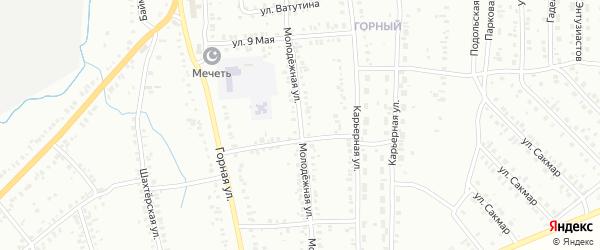 Молодежная улица на карте Сибая с номерами домов