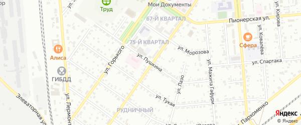 Улица Пушкина на карте Сибая с номерами домов