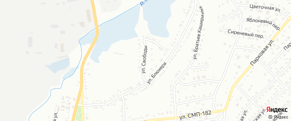 Улица Свободы на карте Сибая с номерами домов