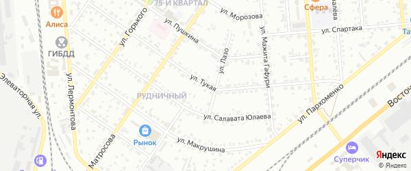 Тукая улица на карте Сибая с номерами домов