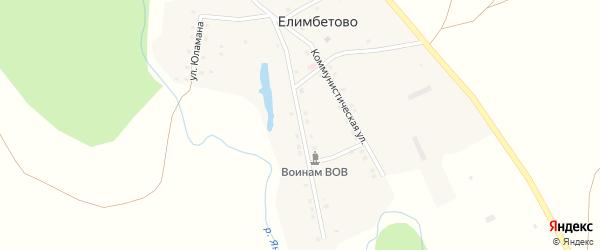 Улица Сафы Истамгалина на карте деревни Елимбетово с номерами домов