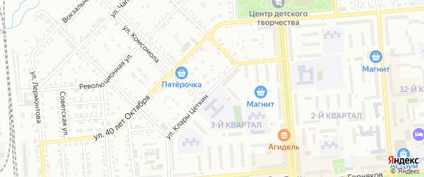 Улица Цеткин на карте Сибая с номерами домов