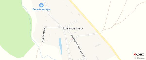 Улица 60-летия Победы на карте деревни Елимбетово с номерами домов