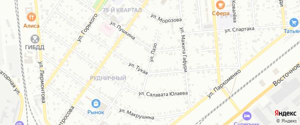 Улица Лазо на карте Сибая с номерами домов