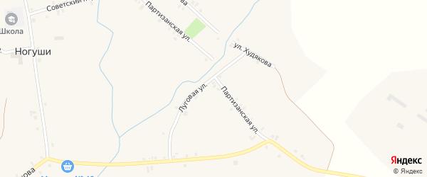 Школьный переулок на карте села Ногуши с номерами домов