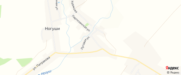Карта села Ногуши в Башкортостане с улицами и номерами домов