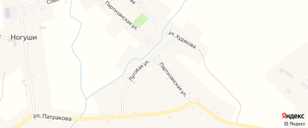 Советский переулок на карте села Ногуши с номерами домов
