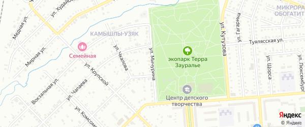 Улица Мичурина на карте Сибая с номерами домов