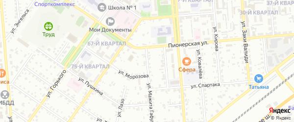 Улица Гафури на карте Сибая с номерами домов