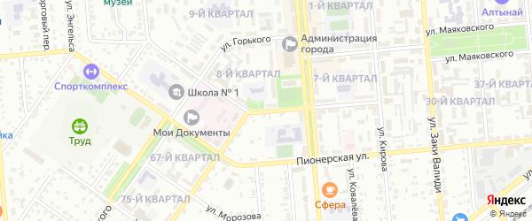 Коммунистическая улица на карте Сибая с номерами домов