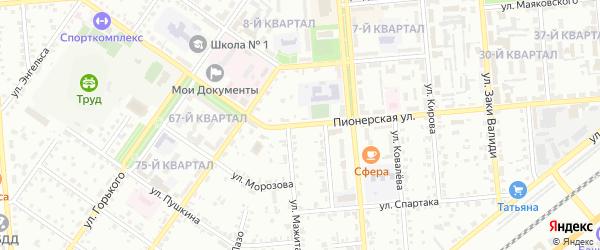 Пионерская улица на карте Сибая с номерами домов