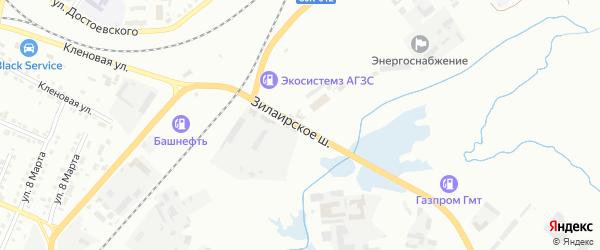 Зилаирское шоссе на карте Сибая с номерами домов
