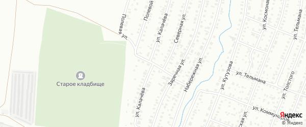 Улица Калачева на карте Сибая с номерами домов