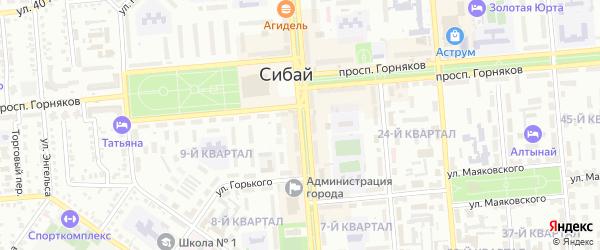 Улица Ленина на карте Сибая с номерами домов
